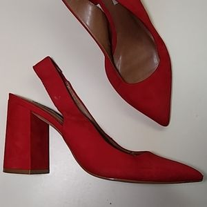 Steve Madden Suede chunky heels 7M Made in Brazil